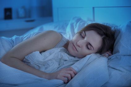 Schlafende Frau