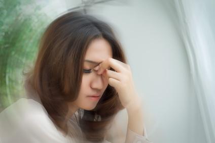 gestresste Frau