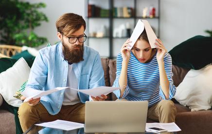 Finanzieller Stress