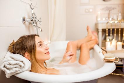 Entspannendes Bad gegen Stress