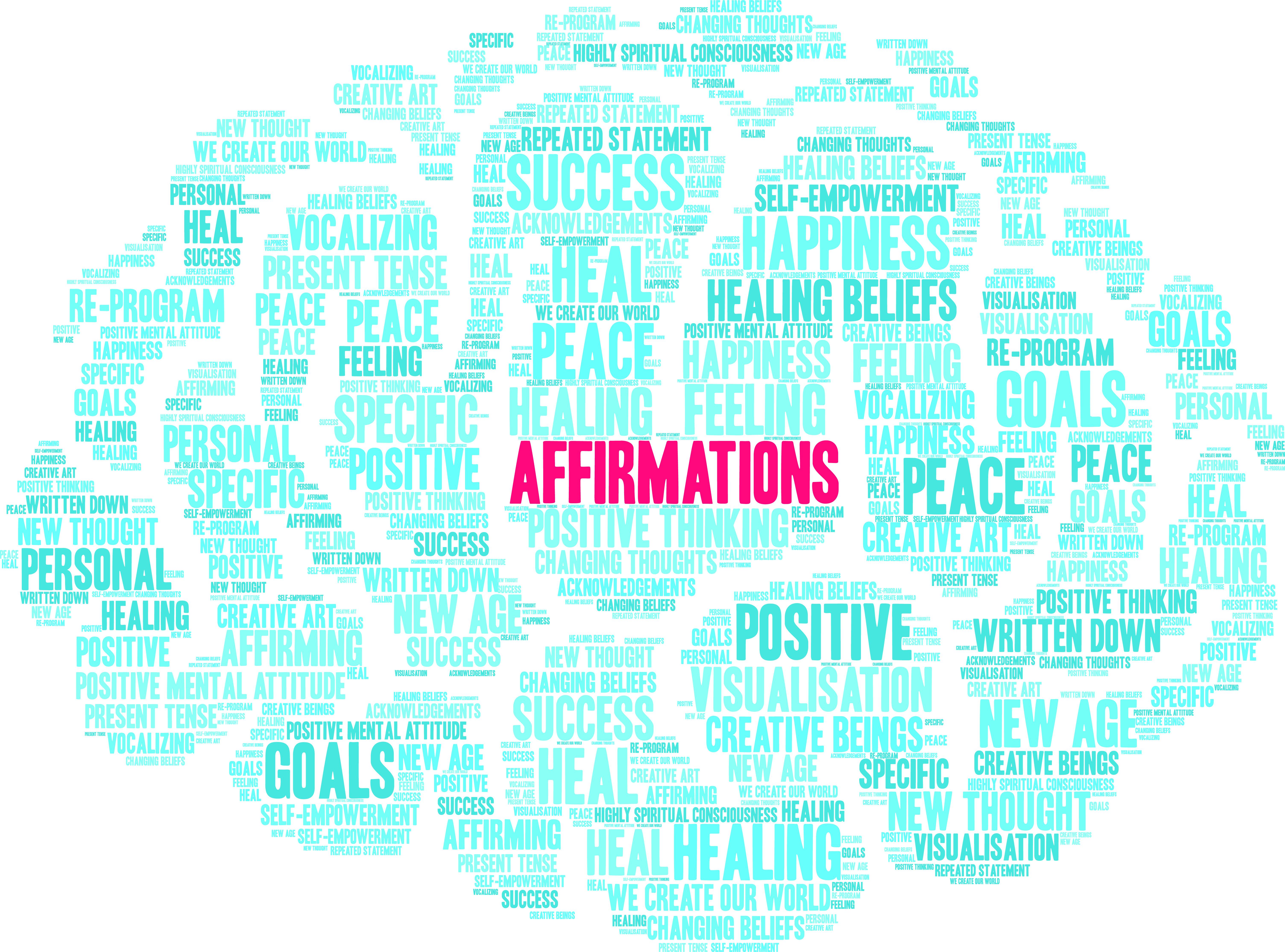 positive Affirmationen reduzieren Stress