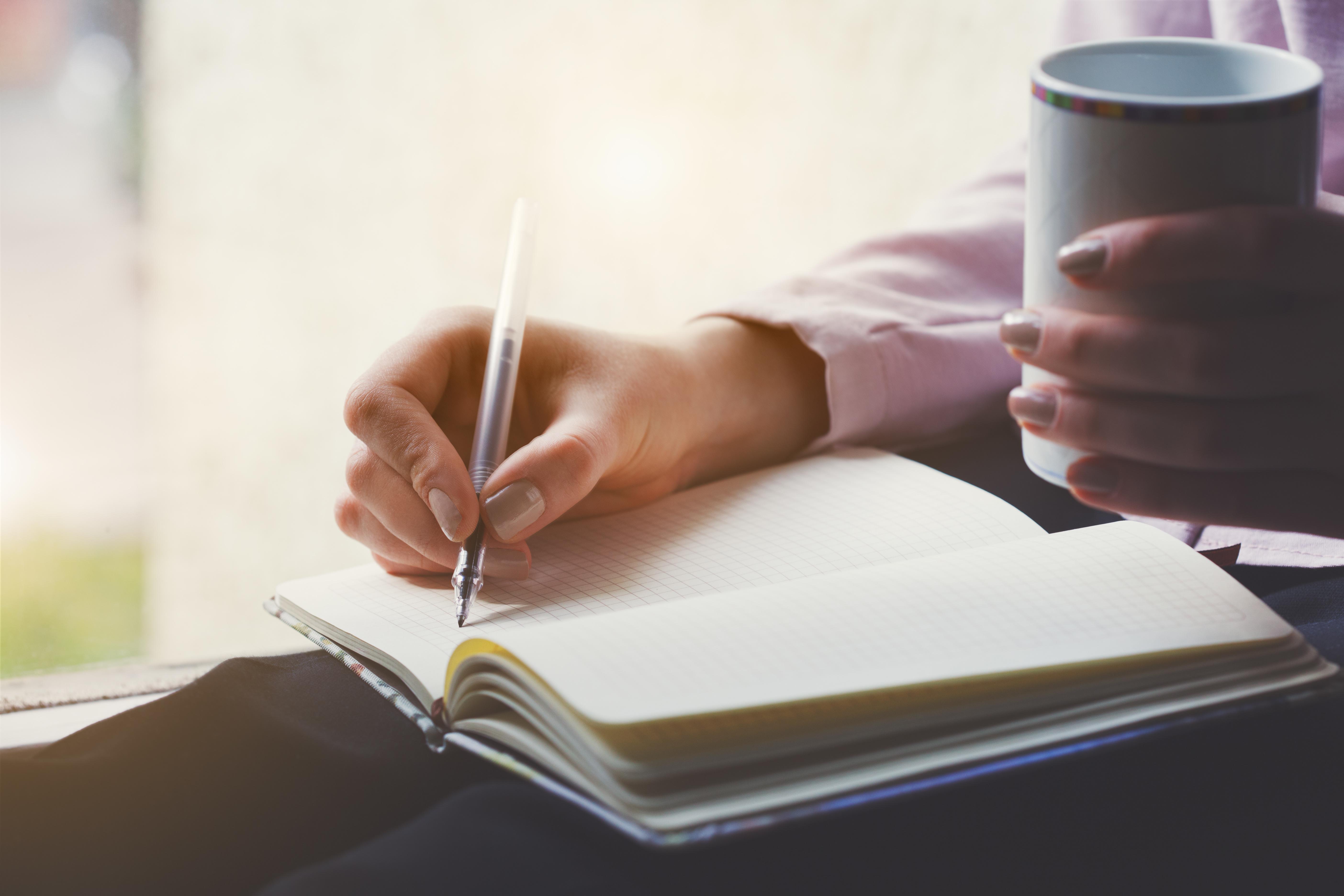 Journal schreiben gegen Stress