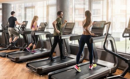 Sport auf dem Laufband gegen Stress