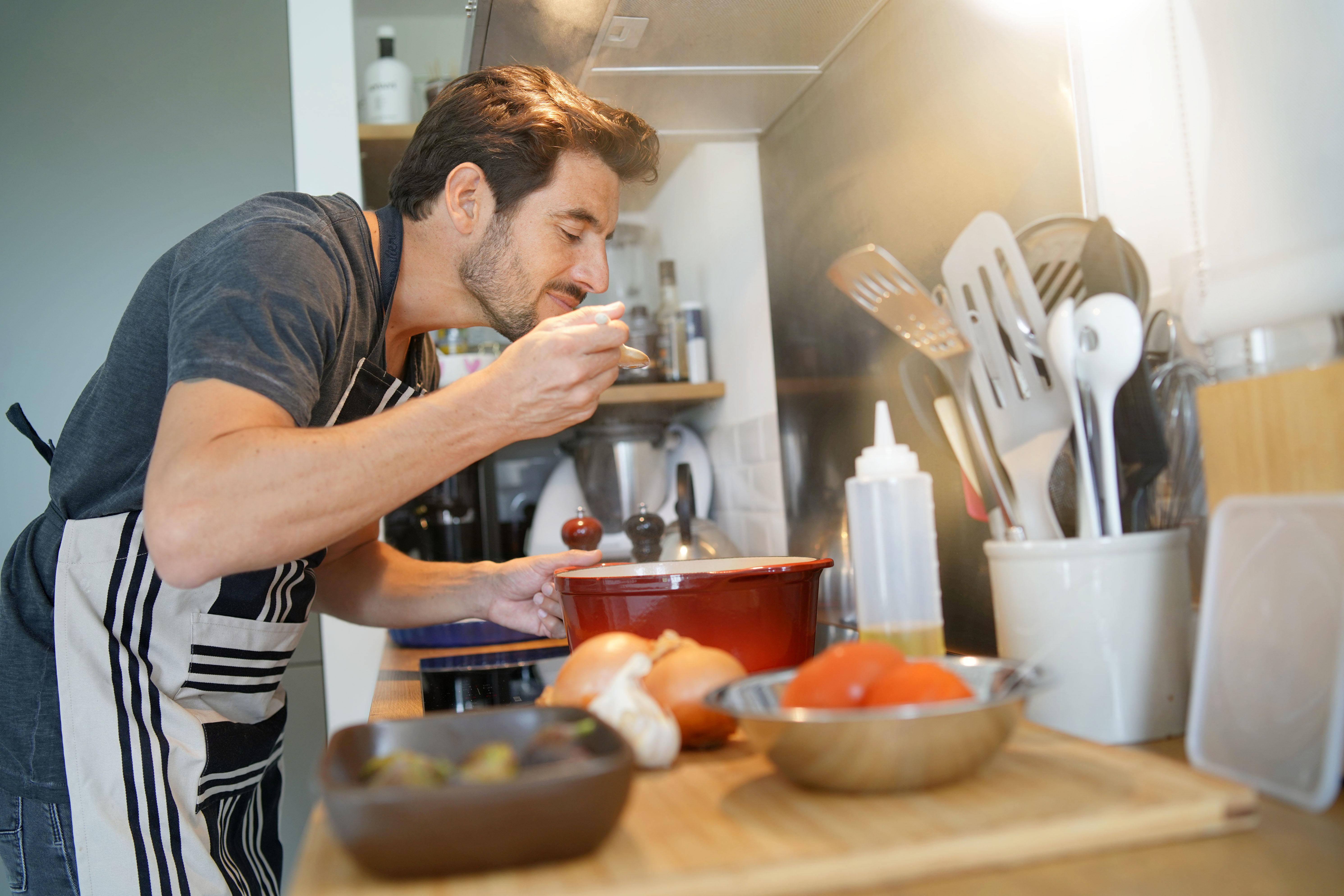 Ein tolles Essen kochen senkt den Stresspegel