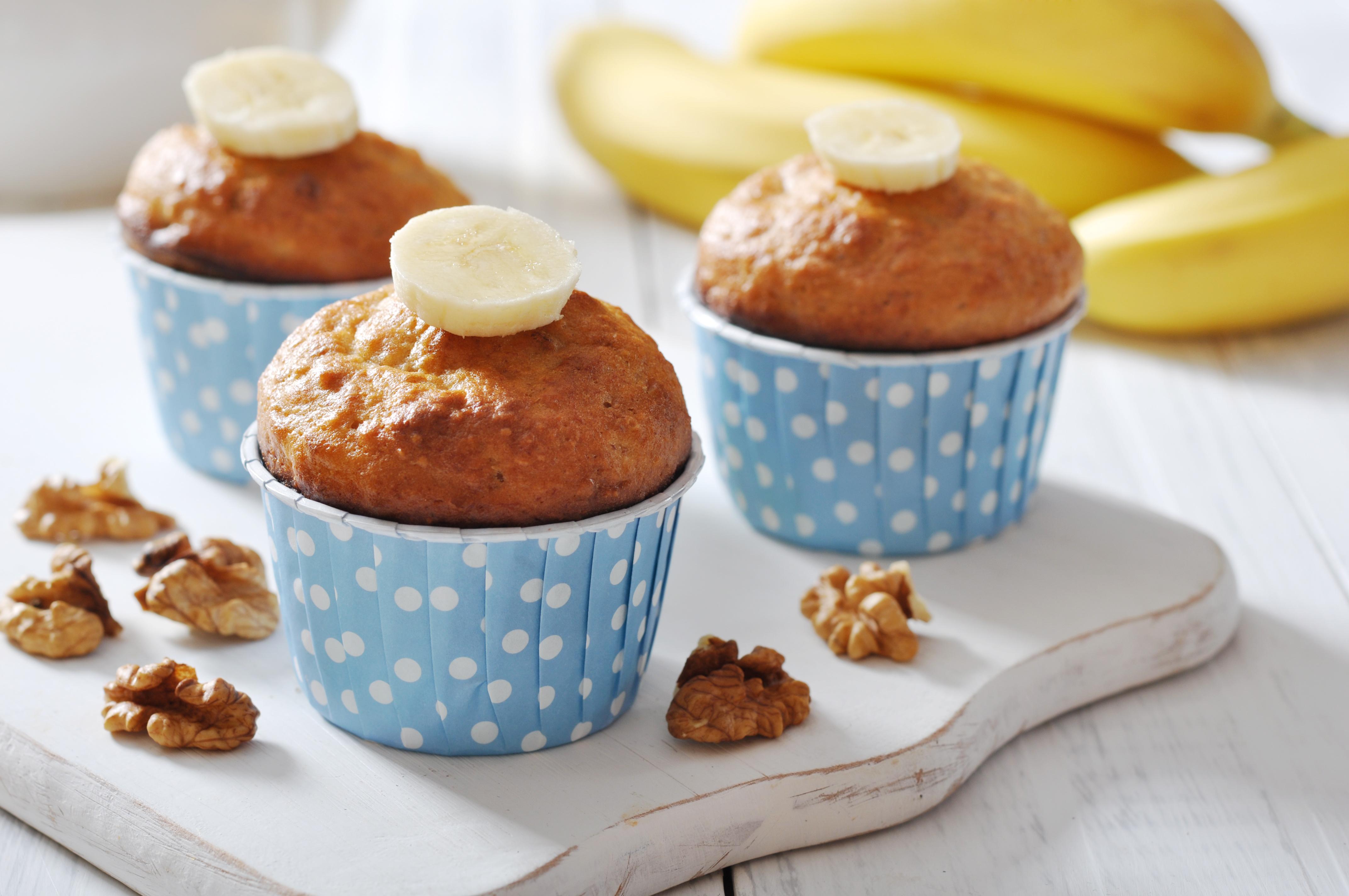 Bananen Walnuss Muffins