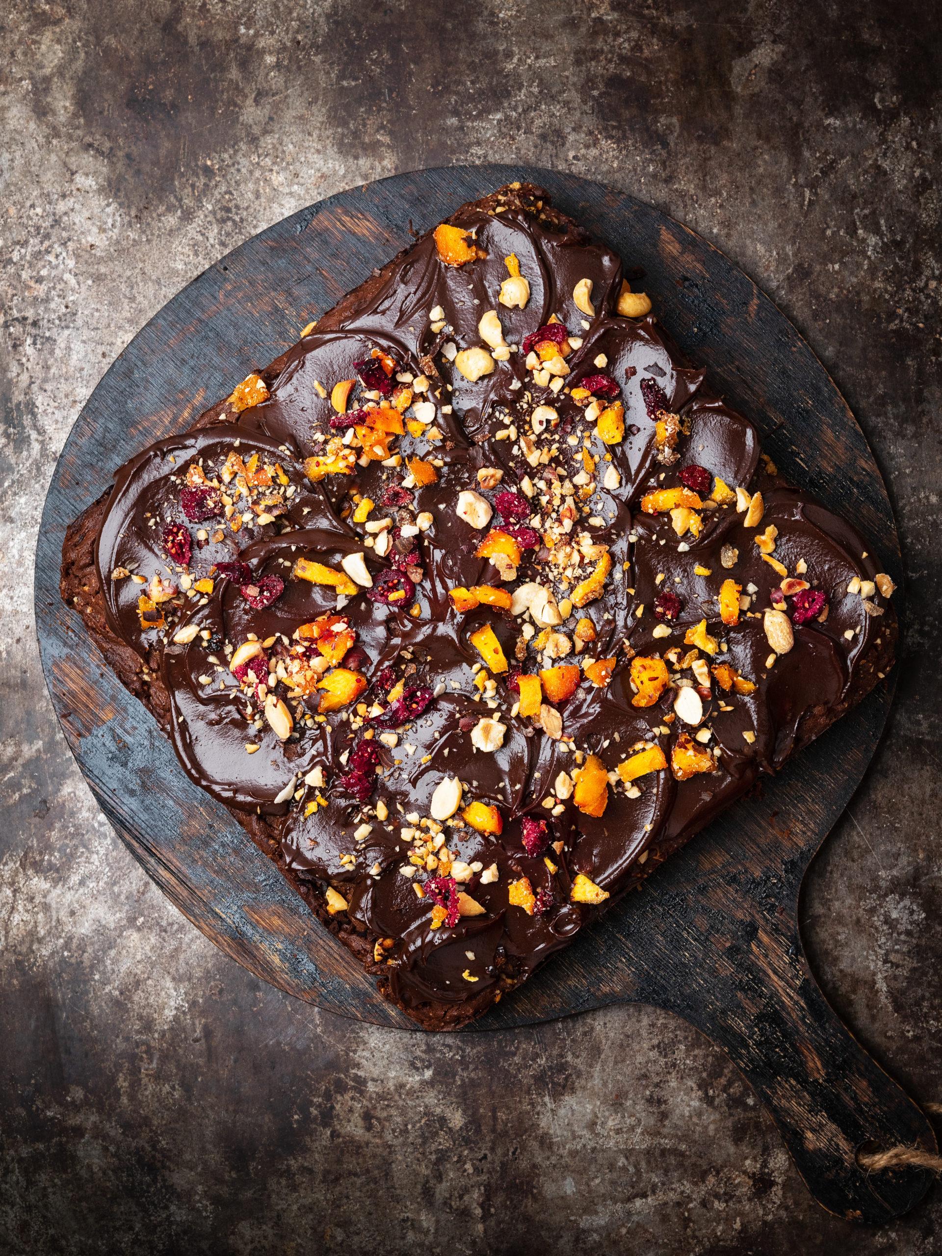 Schokoladen Früchtekuchen