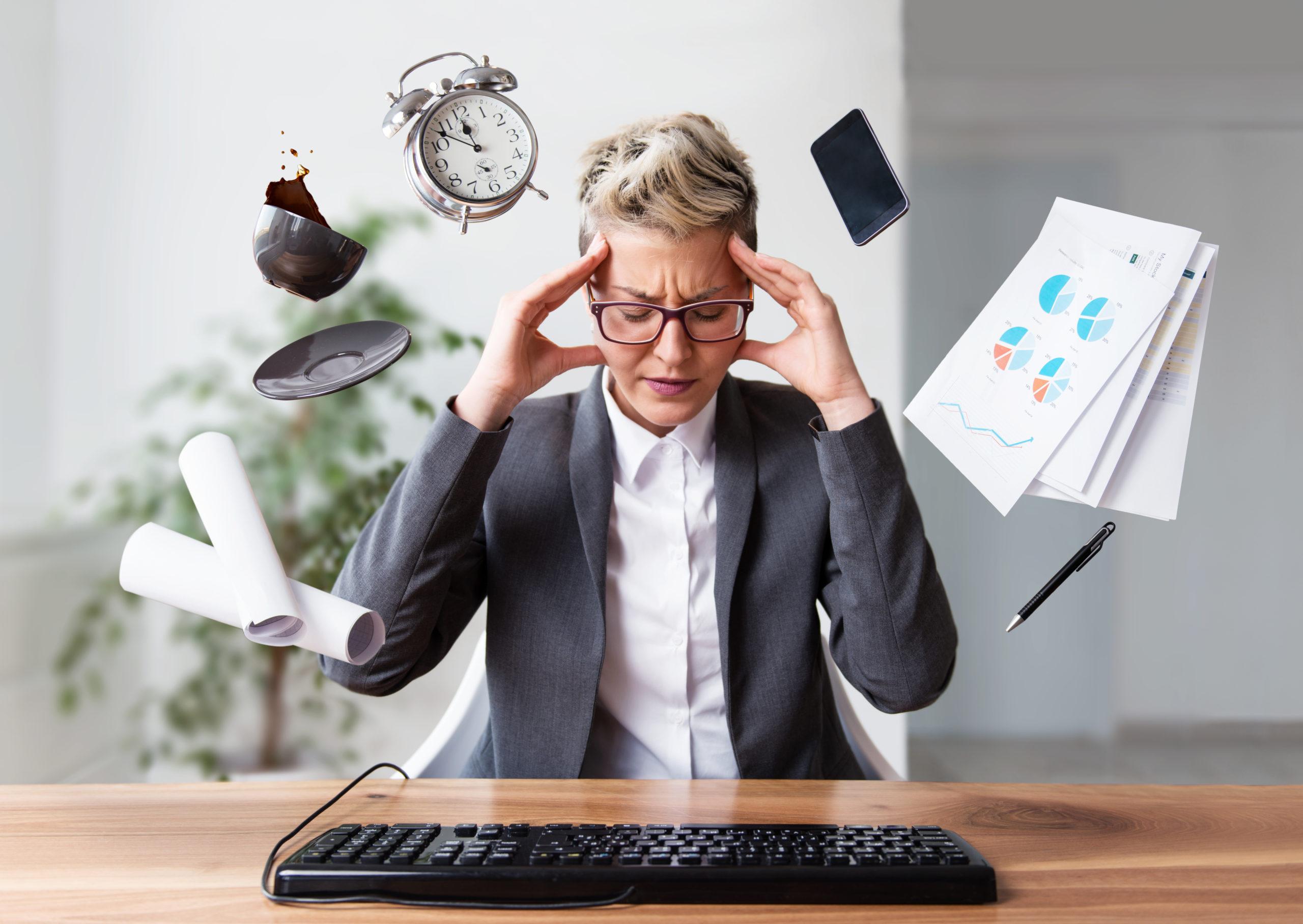 Geschäftsfrau unter Druck